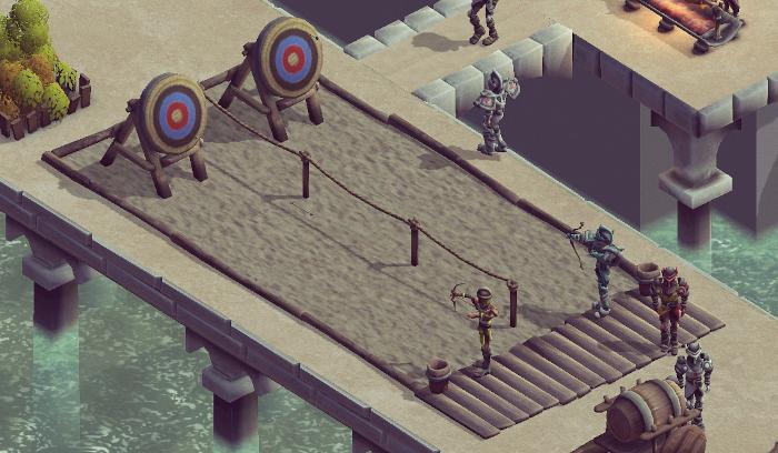 Medieval tournament archery